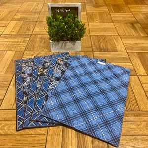 VERA BRADLEY QUILTED PLACE MATS SET OF 4 BLUE